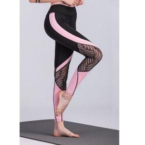 Pants - SALE! 💥⚡️Mesh Pink Colorblock Leggings💥⚡️